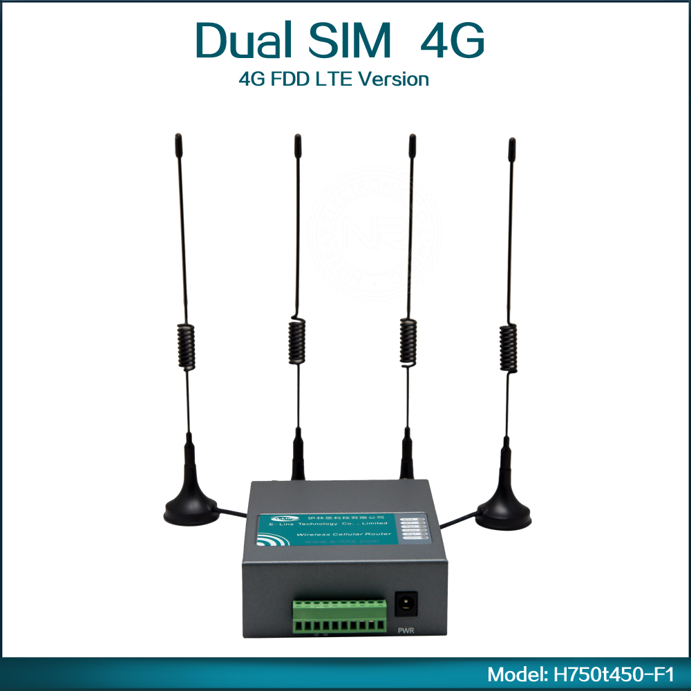 Portable Mini 4G 3G Wireless Router With Dual SIM Card Slot WiFi 802.11b/g/n Mobile For Bus ( Model: H750t450-F1 )