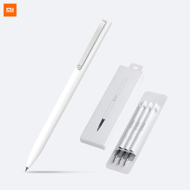 Xiaomi Mijia Pen with 0.5mm Swiss Refill 143mm Rolling Roller Ball Sign Pen Mi Xiomi Sign Signing Ballpoint Pen