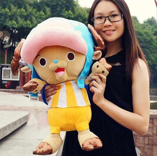 Fancytrader 20\'\' 50cm Plush Stuffed One Piece Tony Tony Chopper Toy, Free Shipping FT90319 (1)