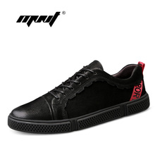 Купить с кэшбэком Genuine Leather Casual Shoes Men Two Style Autumn And Winter Shoes Outdoor Flats Quality Lace Up Outdoor Walking Men Shoes