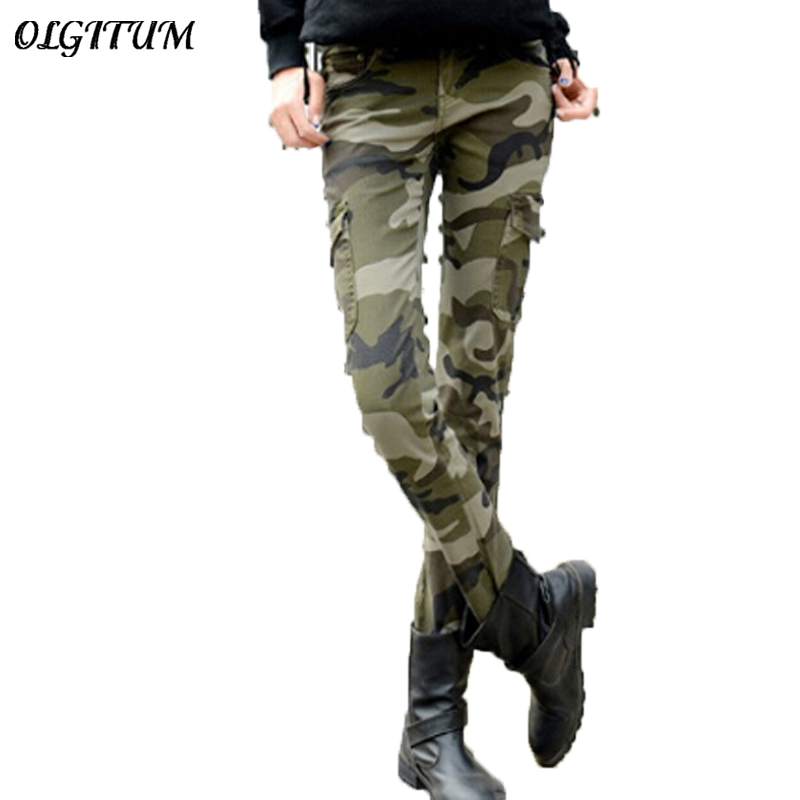 2019 Fashion Camo Skinny   Jeans   Woman Camouflage   Jeans   Slim Plus Size Pencil   Jean   Femme