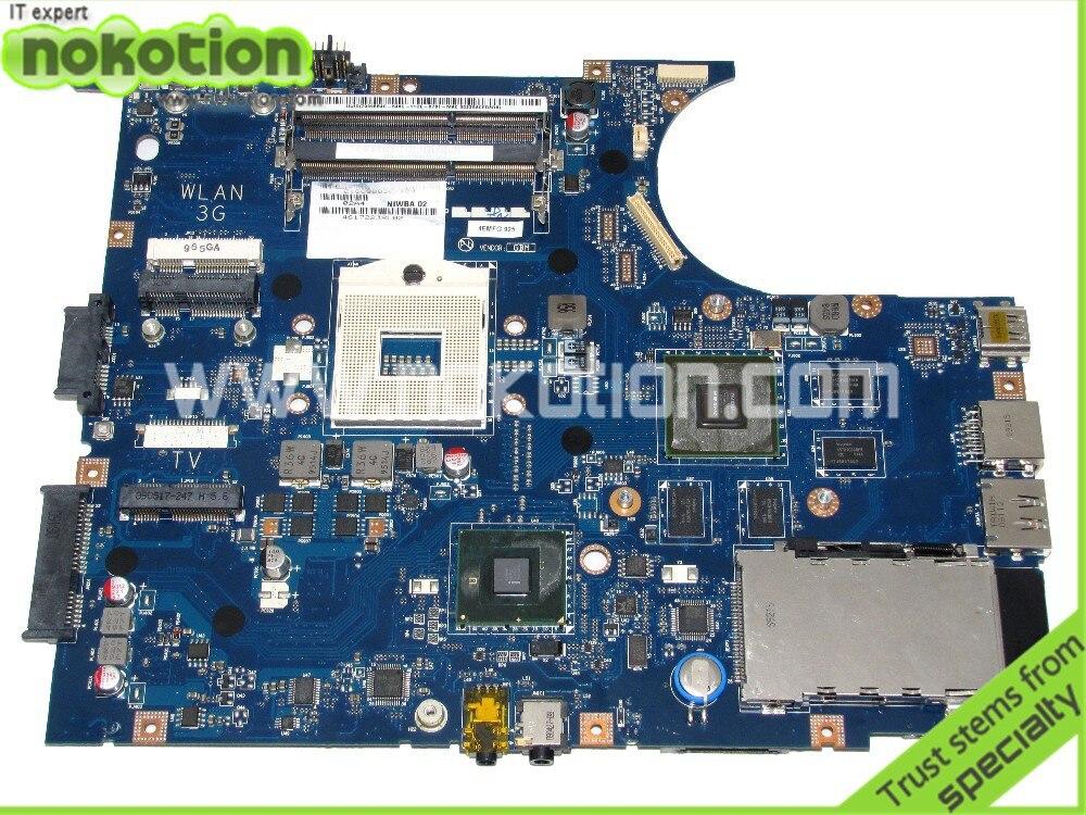NOKOTION NIWBA LA-5371P Motherboard For Lenovo Y550P Laptop Main board Support I7 Only DDR3 HM55 full test