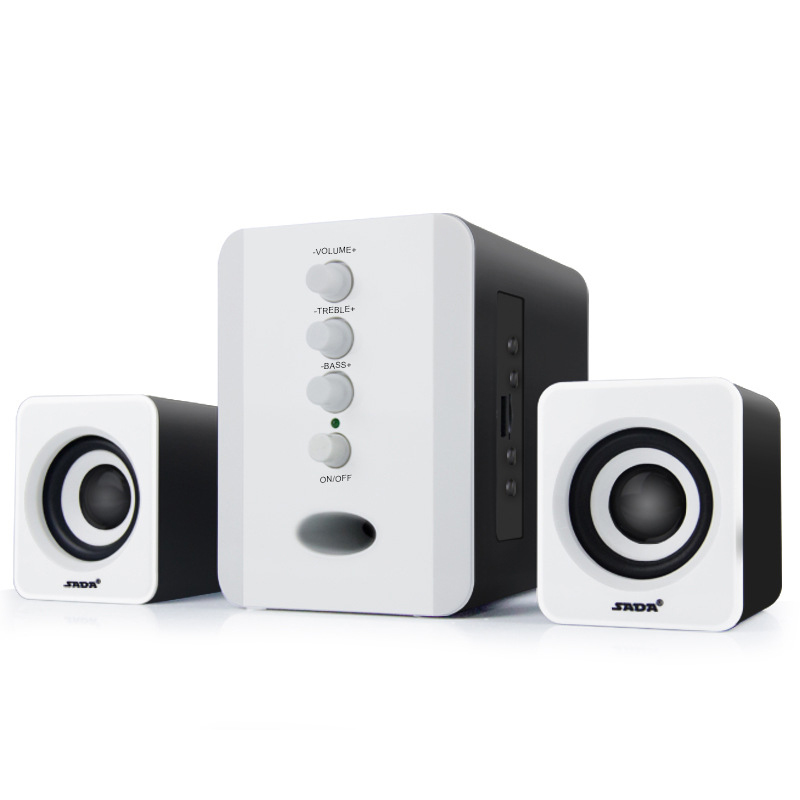 Wired Combination Computer Speaker Subwoofer Music Movies Multimedia PC Gaming Systems AUX USB 2 1 Sound Box Bass Speakers in Combination Speakers from Consumer Electronics