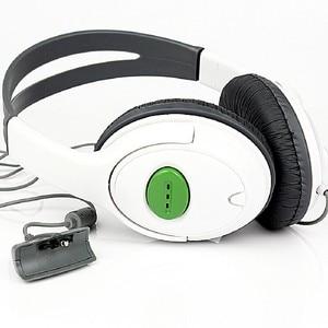 Image 2 - Marsnaska 2016 חדש לבן & שחור ניגודיות צבע אוזניות אוזניות עם מיקרופון מיקרופון עבור Xbox 360 חי בקר באיכות גבוהה