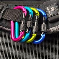 2017 New sports de Plein Air spécial cadenas en alliage d'aluminium sac à dos porte-clés bouteille d'eau boucle de sécurité serrure