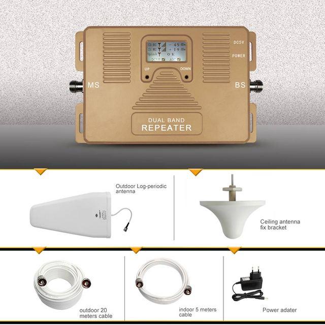 Smart 2g + 4g amplificador de señal! DOBLE BANDA 2g/3g4g 850/1800 mhz GSM + DCS Repetidor de señal móvil celular amplificador de señal del amplificador Kit