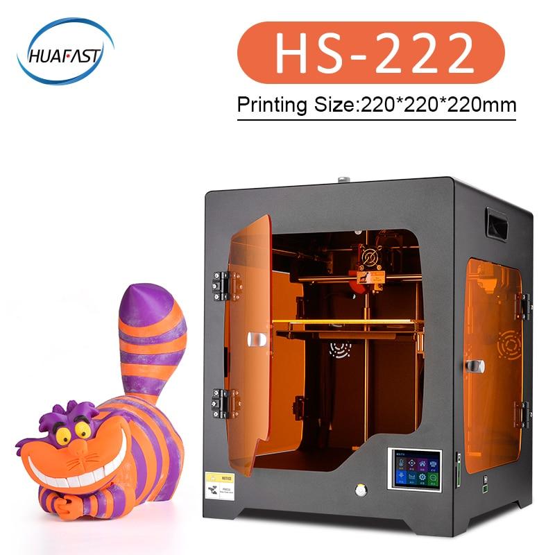 2019 HS-222 Impressora Plus Size Totalmente Fechado grande 3D impresora 3d TFT Touch Screen fora do Poder Retomar A Impressão e filtragem do ar