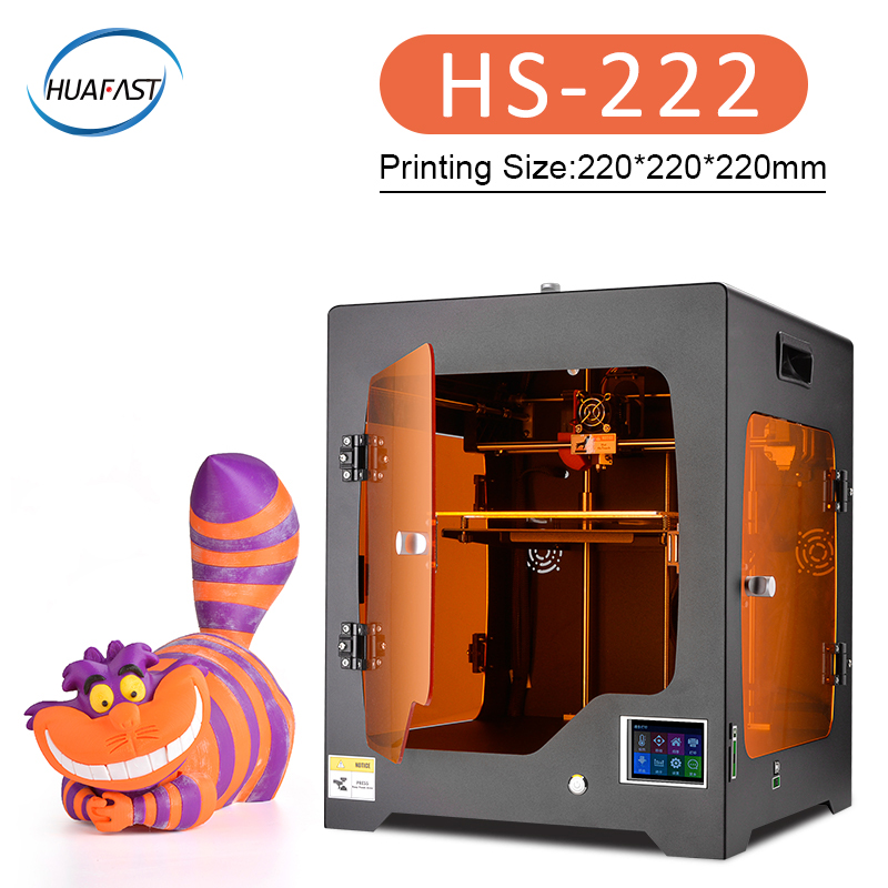 2019 HS 222 large 3D Printer Plus Size Fully Enclosed impresora 3d TFT Touch Screen Power