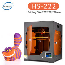 2019 HS-222 большой 3d принтеры плюс размеры полностью закрытый impresora TFT сенсорный экран мощность off резюме печати фильтрации воздуха