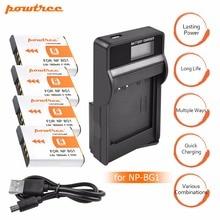 цена на 4X NP-BG1 FG1 NP BG1 Battery+LCD USB Charger for SONY Cyber-shot DSC-H3 DSC-H7 DSC-H9 DSC-H10 DSC-H20 DSC-H55 DSC-H70 Camera L20