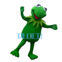 2019 Hot Sale Hot sale Kermit Frog Mascot Costume free shipping Halloween Cartoon for birthday party funning dress