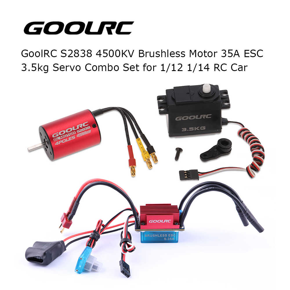 GoolRC 3200KV S2838 4500KV Brushless มอเตอร์ 35A ESC 3.5 กก.สำหรับชุด 1/12 1/14 1/18 1/16 RC Car รถของเล่นชิ้นส่วน