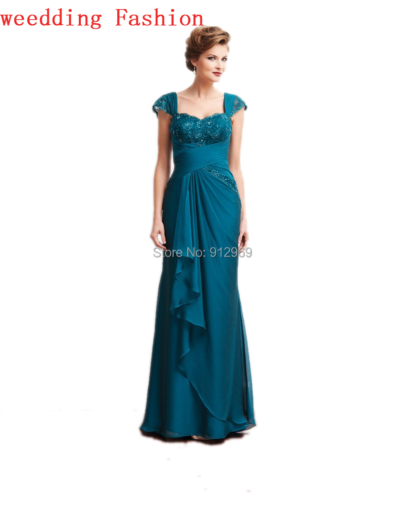 Modern Chiffon Floor Length Mother Of The Bride Dresses
