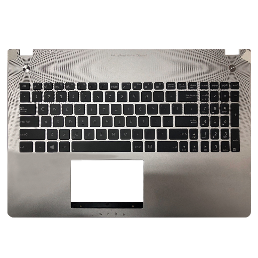 Brand new laptop Keyboard For Asus n56 N56V N56VM N56VZ Series US Version keyboard with cover board and Backlit image