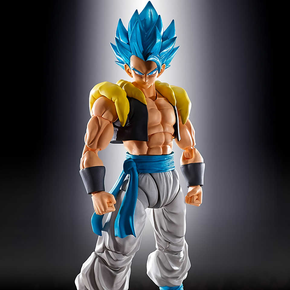 Tronzo Originele Bandai Dragon Ball Super SHF Gogeta PVC Figuur Modellen Movie Broly Gogeta Blauw Collection Beeldje Speelgoed