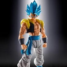 Оригинальная фигурка Tronzo Band Dragon Ball Super SHF Gogeta из ПВХ, модели фигурок из фильма Broly Gogeta, черная и синяя коллекционная фигурка, игрушки