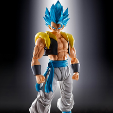 Tronzo Original Bandai Dragon Ball Super SHF Gogeta PVC Figure Models Movie Broly Gogeta Black Blue Collection Figurine Toys