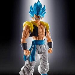 Tronzo Original Bandai Super SHF Gogeta PVC Figure Models Movie Broly Gogeta Black Blue Collection Figurine Toys