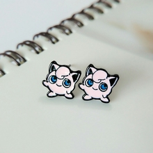 Pokemon Pink Jigglypuff Eposy Set Earrings