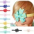 Paño del bebé de la flor del Bowknot pelo de la venda Band infantil accesorios para el cabello niñas Boutique del arco cinta 10 unids HYS54