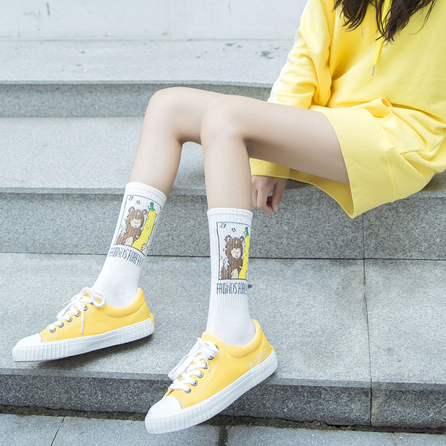 Unisex Banana Printed Socks