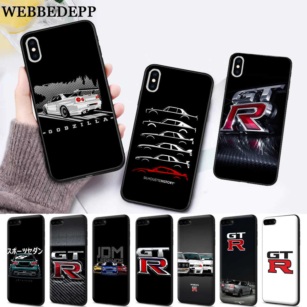 NISSAN GTR Silicone Mềm Dành Cho iPhone 5 SE 5 5S 6 6S 6S Plus 7 8 11 Pro X XS Max XR