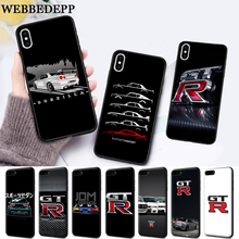 WEBBEDEPP NISSAN GTR Silicone soft Case for iPhone 5 SE 5S 6 6S Plus 7 8 11 Pro X XS Max XR