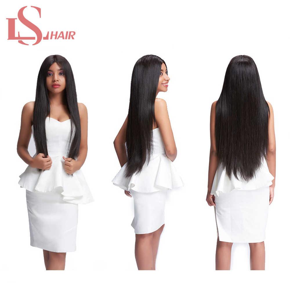 LS Cabello 100% remy extensiones de cabello humano 4 paquetes 8-28 pulgadas natural negro peruano pelo lacio 4 paquetes envío Gratis