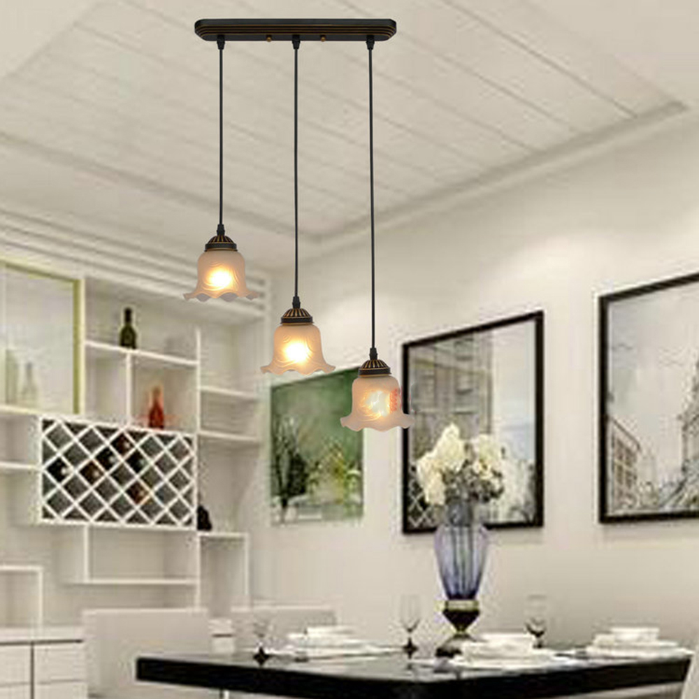 цены HGhomeart Retro Iron Hanging Lighting Fixtures Led Pendant Lights for Dining Room Glass Pendant Light Industrial Lamps Vintage