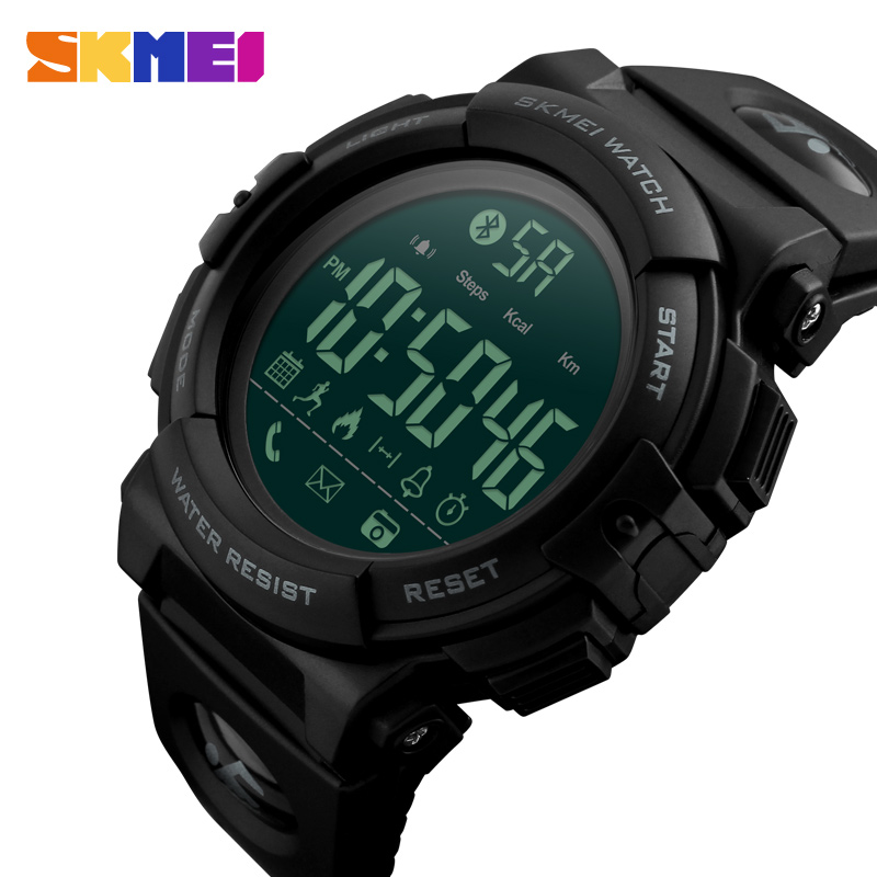 Bluetooth Smart Watch Men Brand <font><b>Skmei</b></font> Fashion Digital Women Wrist Watches Fitness Tracker Pedometer Calories Sports Clock XFCS image