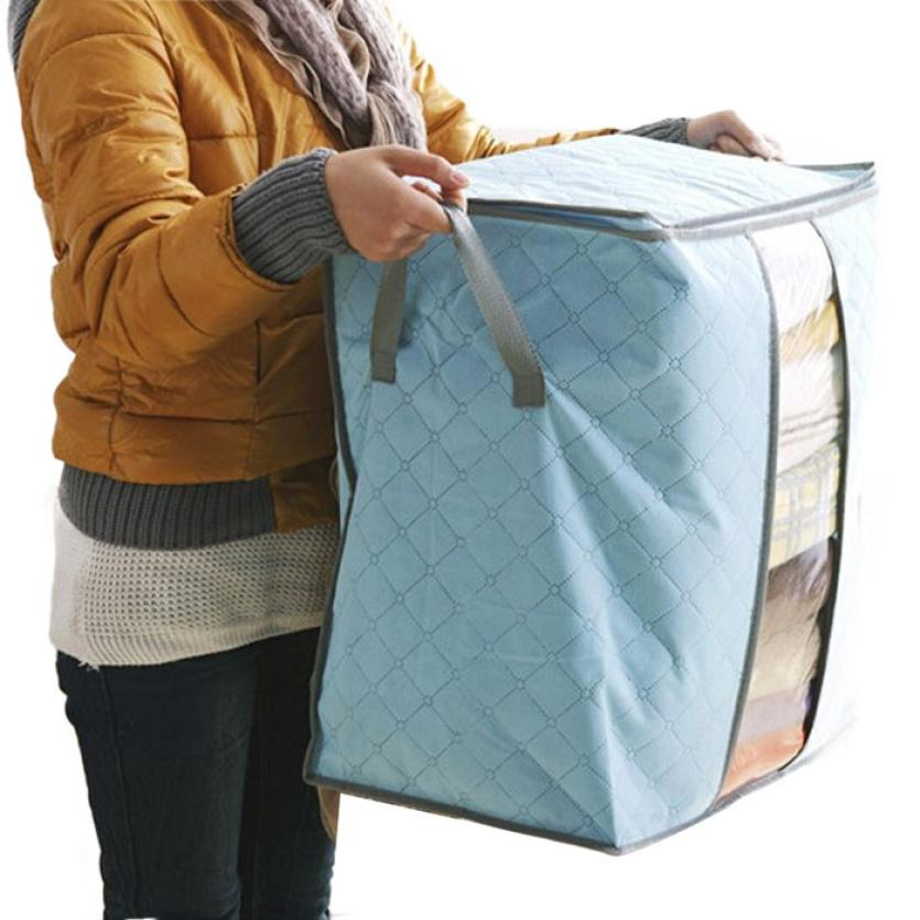 Hot Selling Clothes Storage Box Portable Organizer Non Woven Underbed Pouch Storage Bag Box 40 30
