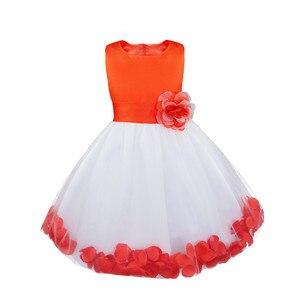 Image 5 - Tiaobug infantil vestido de flor infantil meninas vestidos pétalas elegante pageant formal vestido da menina de flor para vestidos de festa de casamento