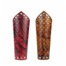 лучшая цена Cosplay Steampunk Rock Play Cool Ride Punk Style Lattice Embossed Arm Protection Nails Wrist Trend Jewelry