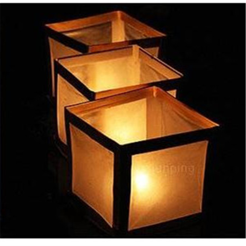 10pcs Lot Paper Water River Lantern Square Candle Mark Pen Festival Give Thanks Gift Best Wishing 1515cm In Balloons From Toys Hobbies On