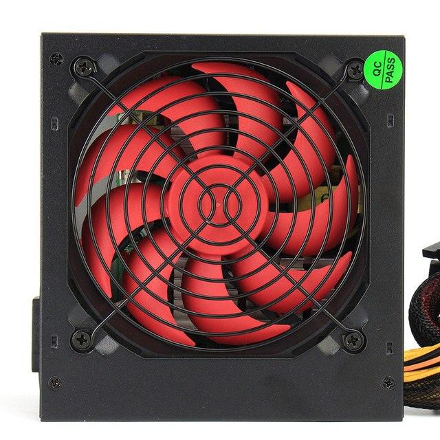 ATX-PC US/AU/EU Plug 80% Efficiency 550W PC BTC Power Supply 550 Watt 24 Pin PCI SATA ATX 12V Molex 4