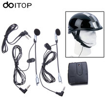 DOITOP Motorcycle Helmet Intercom Helmet Headset Motor Helmet Communicator System 2 way Communication Interphone Microphone