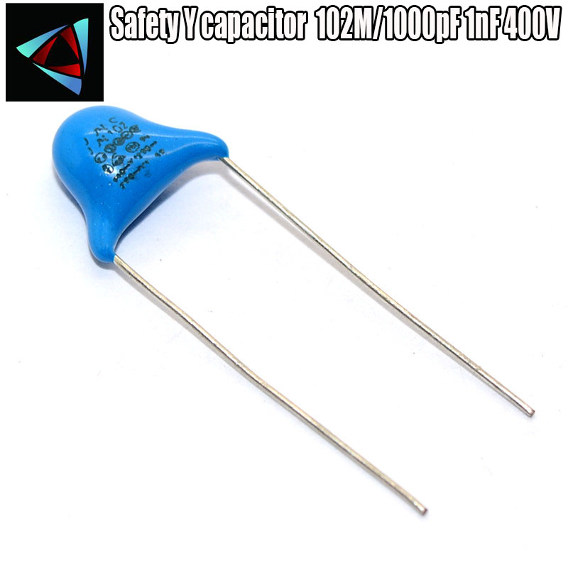 20PCS  102M/1000pF 1nF 400V Safety Y Capacitor