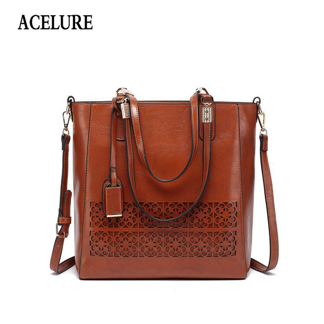 Acelure Brand Women S Shoulder Bag Female Pu Leather Handbag Bags Designer High Quality Hollow Out