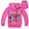 2016 Otoño de Los Cabritos Buena Suerte Trolls Moana Ropa Niños Camisetas 100% Algodón Camisetas de Manga Larga Chicas Jóvenes Camisetas Ropa