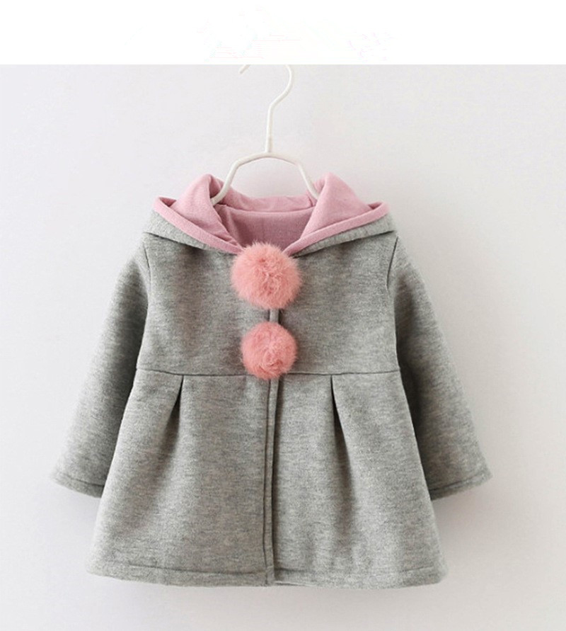 2f7fb6fc Baby Girls Princess 2019 Winter Spring Long Sleeve Coat Jacket Rabbit Ear  Hoodie Casual Outerwear