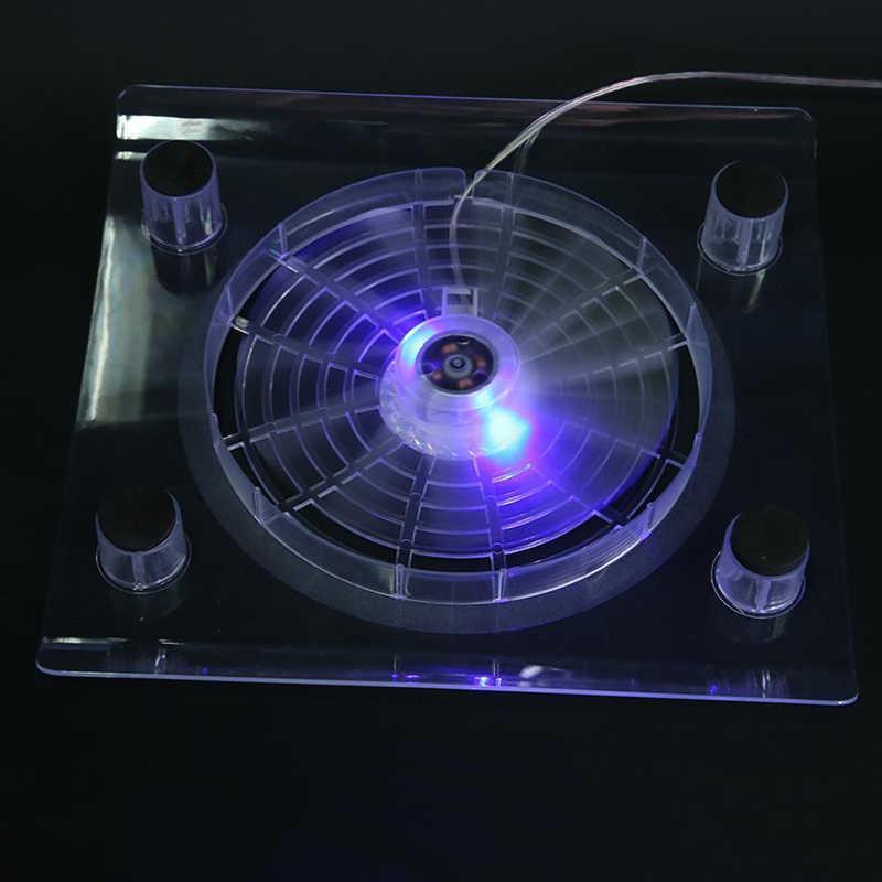 Вентилятор воздушного охлаждения USB для ноутбука светодиодный охлаждающий коврик синий светодиодный Большой одиночный радиатор Охлаждающая подставка с вентиляторами для ПК ноутбука