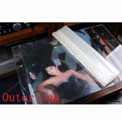 LEORY 100 szt. 12 cali 32cm * 32cm ochrona Lp przechowywanie wewnętrzna/zewnętrzna torba na gramofon winylowy odtwarzacz CD grubość rekordu nowy