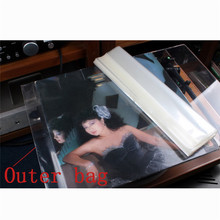 LEORY 100PCS 12 인치 32cm * 32cm Lp 보호 저장 턴테이블 비닐 CD 플레이어 레코드 두께 용 내부/외부 가방 New