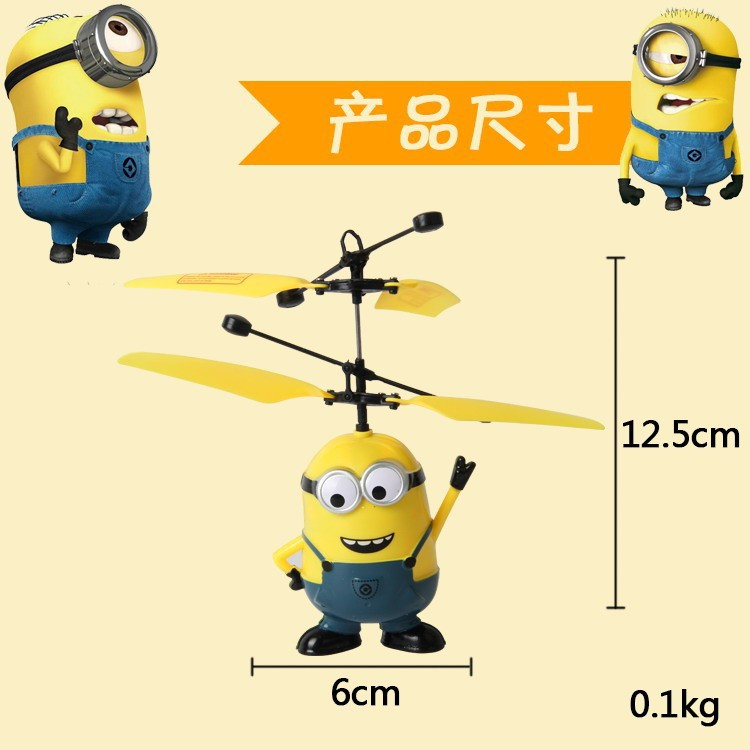 <font><b>Despicable</b></font> <font><b>Me</b></font> <font><b>Mini</b></font> <font><b>RC</b></font> <font><b>Helicopter</b></font> Induction Flying <font><b>Minion</b></font> Remote Control drones <font><b>Minions</b></font> helicoptero juguetes Kids Electronic Toys