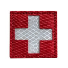 Reflective Medic Patches Tactical Medical Hook-Fastener Backing Cross Rescue Ir Chapter Velcro Pack