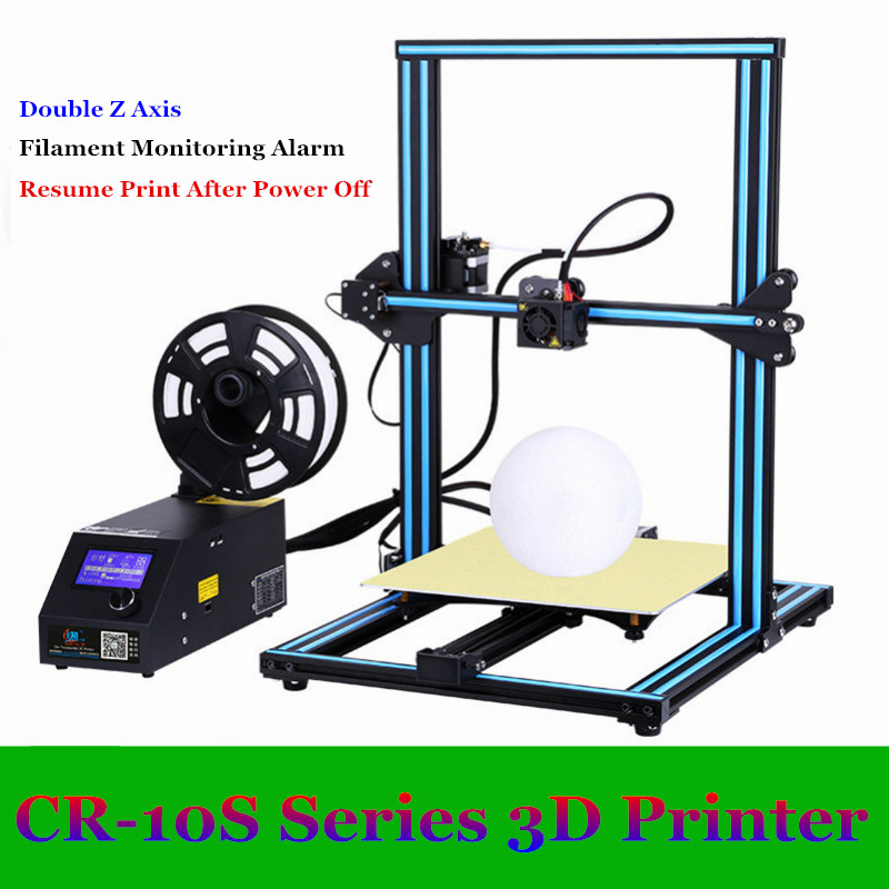 Creality 3D CR-10/CR-10S 3D Printer With Aluminum Heated Bed High-Precisio Free Testing Filament+Free Tool Set Free Shipping creality 3d cr 10 cr 10s 3d printer with aluminum heated bed high precisio free testing filament free tool set free shipping