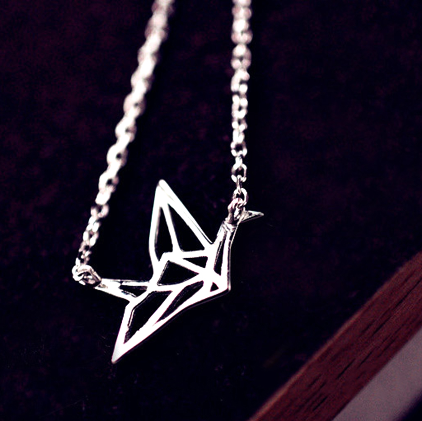 Kinitial 1pcs cute 925 sterling silver animal bird necklaces kinitial 1pcs cute 925 sterling silver animal bird necklaces pendants for women simple origami crane charm necklace jewelry in pendant necklaces from mozeypictures Choice Image