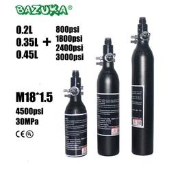 PCP Paintball Airforce Airsoft buceo HPA cilindro M18x1.5 0,2/0,35/0.45L tanque de aleación de botella de aire con regulador 4500psi /3000psi