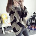 Pullover Sweater Outerwear Thickening Female Medium Long Winter Sweater Batwing Loose Sweater Long Winter Jacket Women
