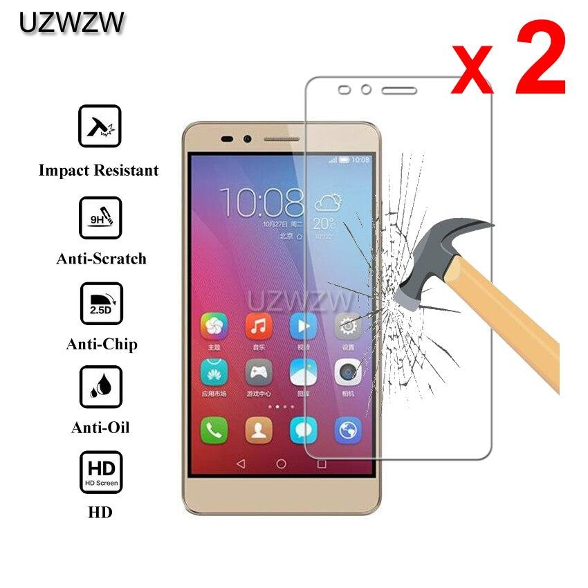 2pcs For Huawei Honor 5X Glass Premium 2.5D Tempered Glass Screen Protector For Huawei Honor 5X Protective Glass